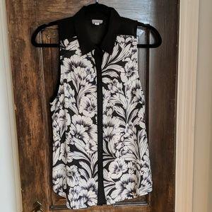 RBL Sleeveless Shirt Black/White Medium
